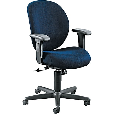 HON ® Unanimous ® Series Acrylic Mid Back Swivel/Tilt 24-Hour Chair, Navy