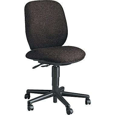 HON 7700 Series Multi-Task Armless Chair, Olefin Upholstery, Dark Gray