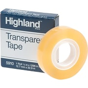 "Highland™ Transparent Tape Refill 5910, 1/2"" x 1,296"", 1"" Core, 1/Pk"