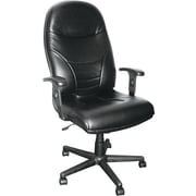 Tiffany™ Comfort Series Executive High Back Swivel/Tilt Chair, Black Leather