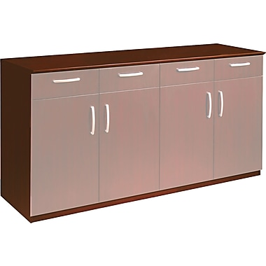 Mayline Corsica Series Buffet Credenza Cabinet without Doors, Sierra Cherry