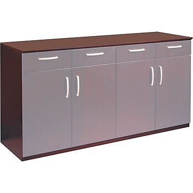 Tiffany Industries Corsica Series Buffet Credenza Cabinet with Doors, Mahogany