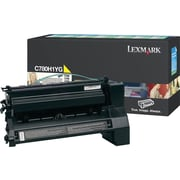 Lexmark Yellow Toner Cartridge (C780H1YG), High Yield, Return Program