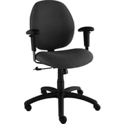 Global Graham Series Olefin Pneumatic Ergo-Tilter Low Back Swivel/Tilt Chair, Black