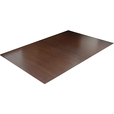 Anji Mountain Deluxe Roll-Up Bamboo Chair Mat, Rectangular, 48in. x 60in., Dark Cherry