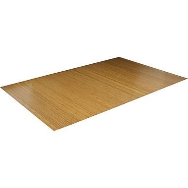Anji Mountain Roll-Up Bamboo Chair Mat, Rectangular, 72in. x 48in., Natural