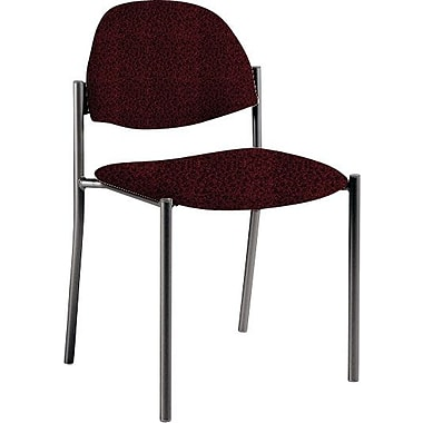 Global Custom Comet Stacking Reception Chair without Arms, Cabernet, Premium Grade