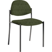 Global Custom Comet Stacking Reception Chair without Arms, Jade, Premium Grade
