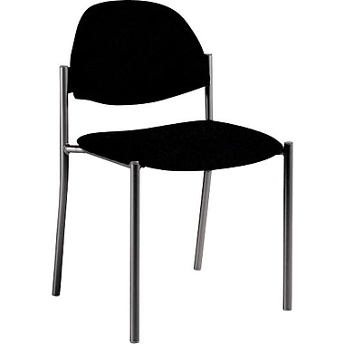 Global Custom Comet Stacking Reception Chair without Arms, Black, Premium