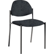 Global Custom Comet Stacking Reception Chair without Arms, Graphite, Premium Grade
