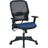 SPACE® Deluxe Air Grid™ Mesh Managers Chair, Indigo Seat