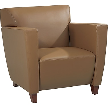 Office Star Taupe Leather Club Chair