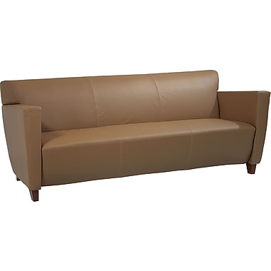 Office Star Taupe Leather Sofa