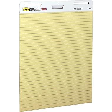 Post-it® - Tablette auto-adhésive pour chevalet, jaune avec lignes bleu pâle, 30 po x 25 po