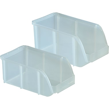 Staples® Clear Stacking Bins