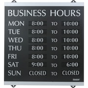 "Headline Sign® Century Series ""Business Hours"" Sign, 14"" x 13"""