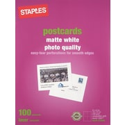 Staples Laser Matte Postcards, White, 100/Pack (14635-CC)