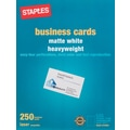 Staples® Laser Business Cards, White, 250/Pk