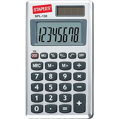 Staples® SPL-130-CC 8-Digit Display Calculator