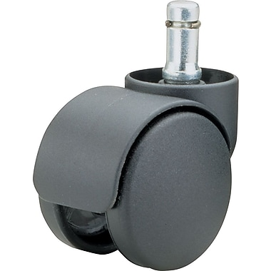Futura Deluxe Casters, Soft Wheels for Use On Hard Floors/Chair Mats