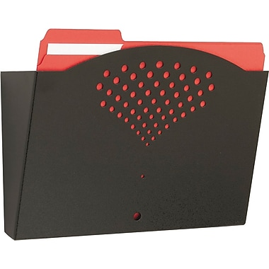 Safco® Steel Wall Pocket, Letter-Size, Black