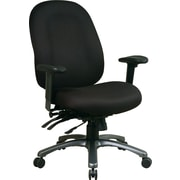 Office Star Pro-Line II Fabric Ergonomic High-Back Task Chair, Adjustable Arms, Black