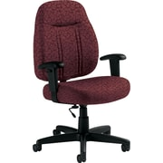 Global Custom High-Back Task Chair, Premium Grade, Garnet