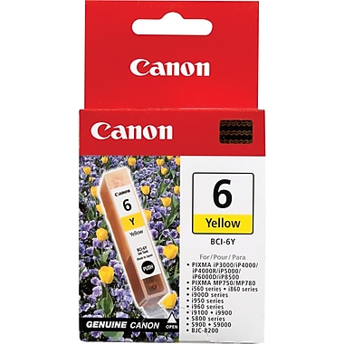 Canon® BCI-6Y Yellow Ink Tank (4708A003)
