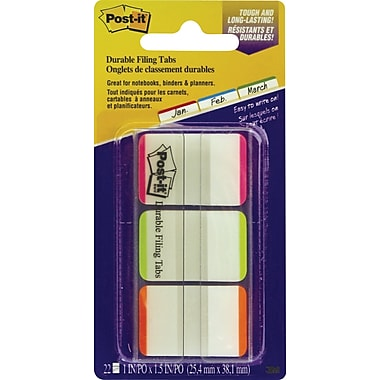 Post-it® Durable Filing Tabs, 1