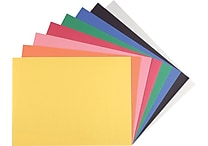 Staples Construction Paper, 9' x 12', Assorted Colors, 200 Sheets/Pack (MMK01200S)