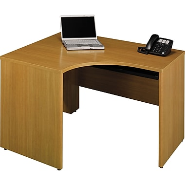 Bush Quantum 48in.W x 42in.D RH Corner Desk, Modern Cherry