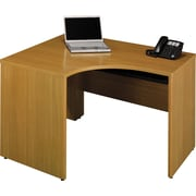 Bush Quantum 48W x 42D RH Corner Desk, Modern Cherry, Fully Assembled