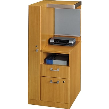 Bush Business Quantum LH Storage Tower, Modern Cherry, Installed