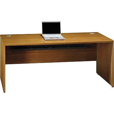 Bush Quantum 72in.W Credenza Desk, Modern Cherry