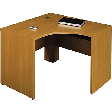 Bush Quantum 48in.W x 42in.D LH Corner Desk, Modern Cherry, Fully Assembled