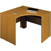 Bush Quantum 48W x 42D LH Corner Desk, Modern Cherry, Fully Assembled