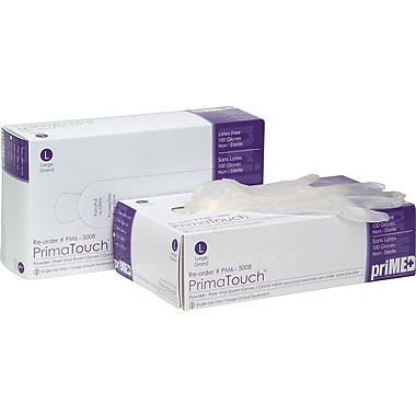 priMED Vinyl Medical Exam Gloves, Large