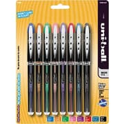 uni-ball® Vision Elite Rollerball Pens, Micro Point, Assorted, 8/pk (58092PP)