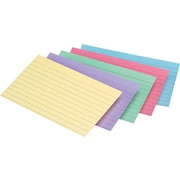 Staples® 5 x 8 Line Ruled Pastel Assorted Color Index Cards, 300/Pack