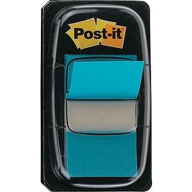 Post-it® 1in. Bright Blue Flags with Pop-Up Dispenser, 2/Pack