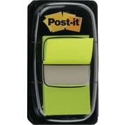 "Post-it® 1"" Bright Green Flags with Pop-Up Dispenser, 2/Pack"