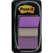 "Post-it® 1"" Purple Flags with Pop-Up Dispenser, 2/Pack"