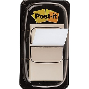 Post-it® 1in. White Flags with Pop-Up Dispenser, 2/Pack