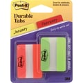 Post-it® 2in. Green & Orange Durable Tabs, 44 Tabs/Pack