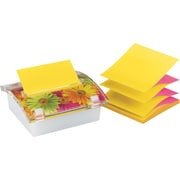 "Post-it® 3"" x 3"" Designer Series Pop-Up Note Dispenser with Daisy Insert, Each"