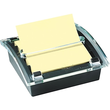 Post-it® 3 x 3 Designer Series Pop-Up Note Dispenser with Black Base, Each