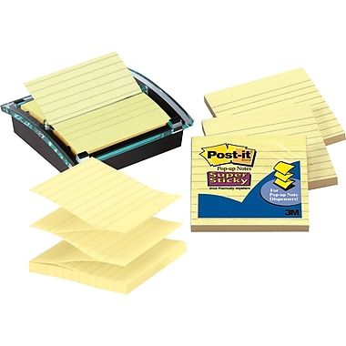 Post-it® Super Sticky 4in. x 4in. Designer Series Pop-Up Note Dispenser Value Pack, Each