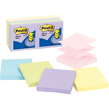 Post-it® Pastel Pop-Up Notes