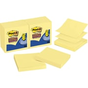 "Post-it® Super Sticky Pop-up Notes, 3"" x 3"", Canary Yellow, 12 Pads/Pack (R330-12SSCY)"