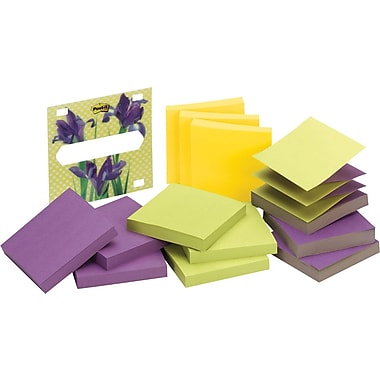 Post-it® 3in. x 3in. Designer Series Refill Pads and Iris Insert, Each